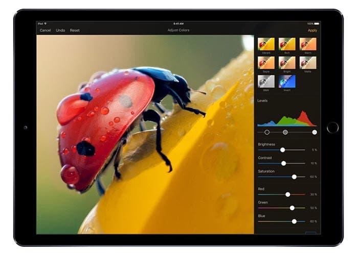 Pixelmator funcionando en el iPad Pro