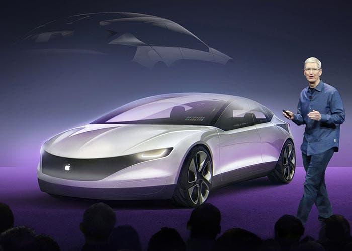 Tim Cook presentando el Apple Car