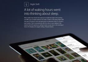 Funcionamiento de Night Shift en iOS 9.3