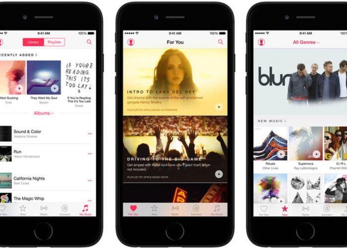 Apple Music app en iPhone
