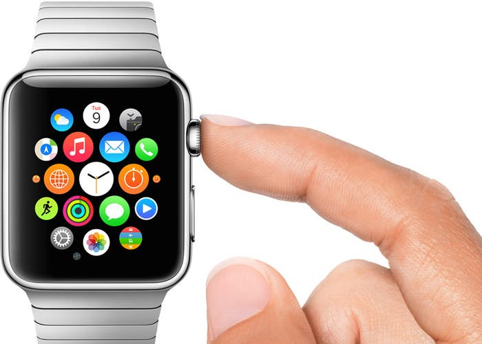 Corona del reloj de Apple