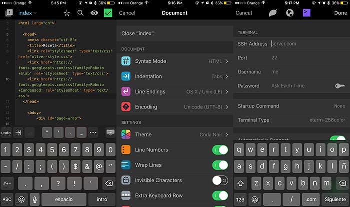 Coda para iOS