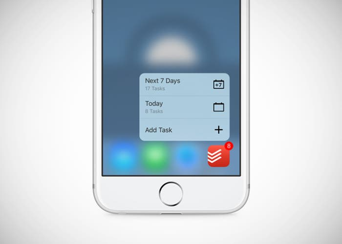 Todoist iPhone 3D Touch