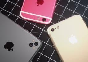 Concept de lo que podrían ser el iPhone 5se y el iPhone 7