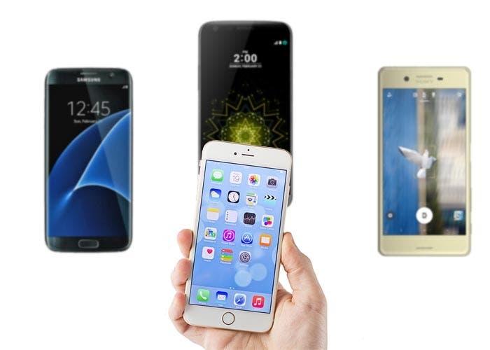 Comparativa del iPhone 6s con el Samsung Galaxy S7, LG G5 y Sony Xperia X