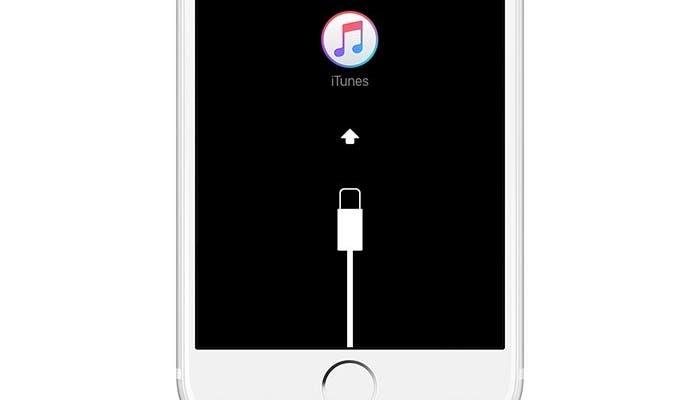 iPhone esperando a ser conectado a iTunes