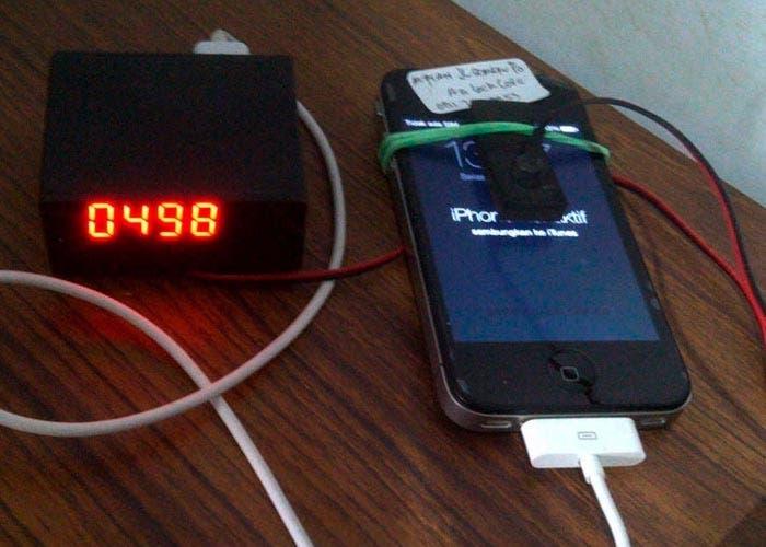iPhone siendo hackeado
