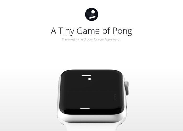 Juego del Pong en el Apple Watch