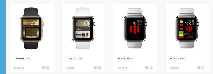 Diferentes fondos de Apple Watch
