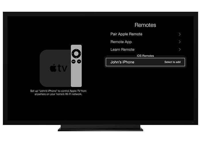 Remote en el Apple TV