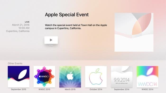Aplicación Apple Events