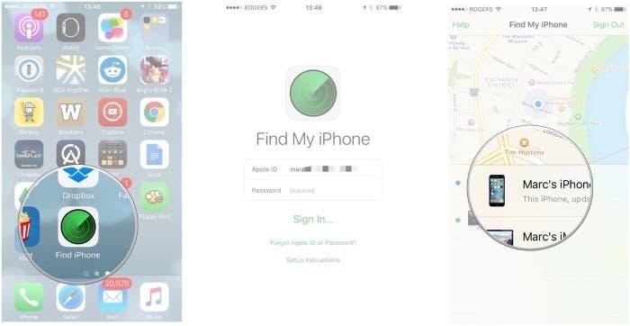 Buscar mi iPhone aplicación