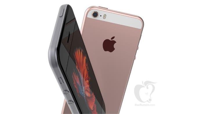 iPhone SE rosa concepto