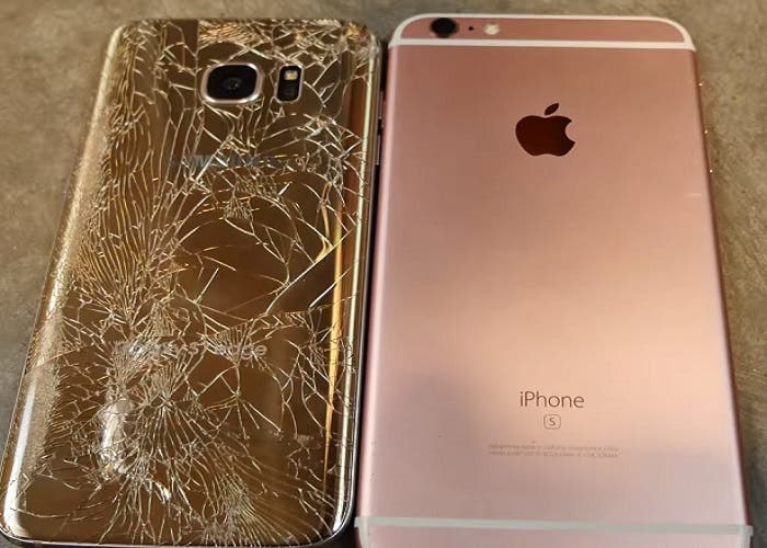 iPhone 6s Galaxy s7 edge prueba resistencia caidas