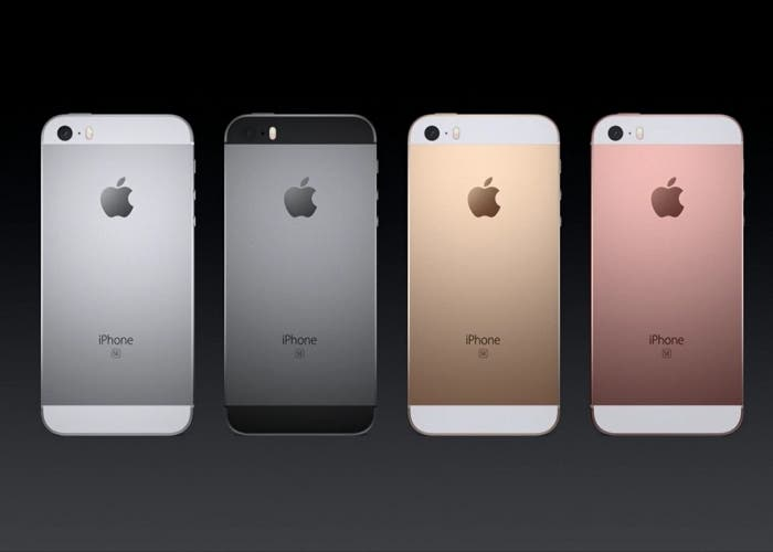 iPhone SE colores trasera