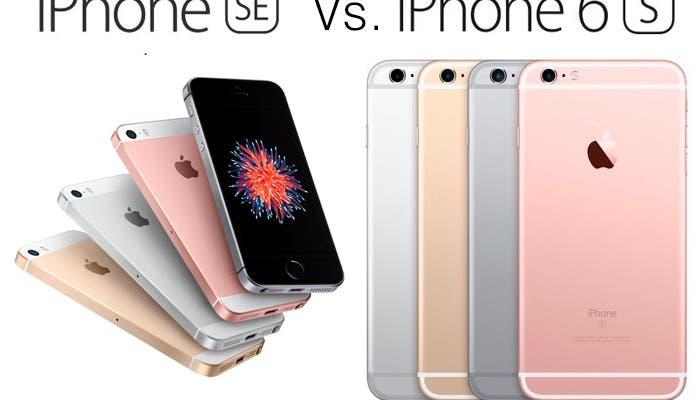 iPhone SE y iPhone 6S cara a cara