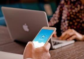 Aplicación de AirMore funcionando en iOS