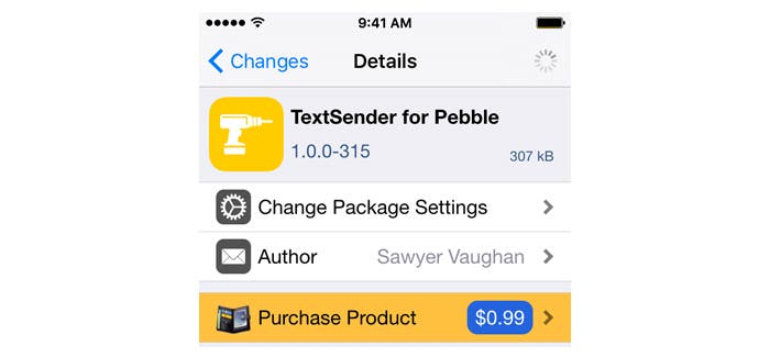 TextSender for Pebble