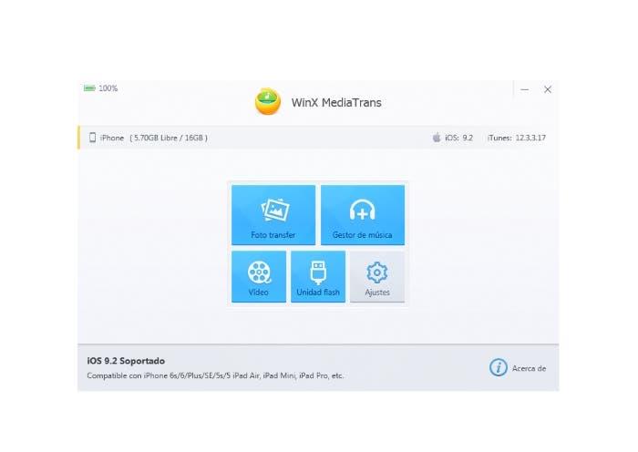 WinX MediaTrans archivos iTunes iPhone