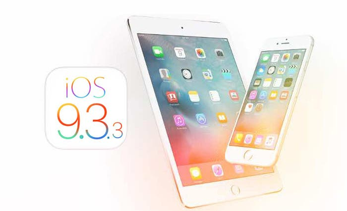iOS 9.3.3 ya disponible para su descarga