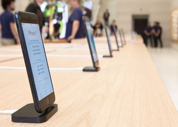 caen ventas de iphone 7