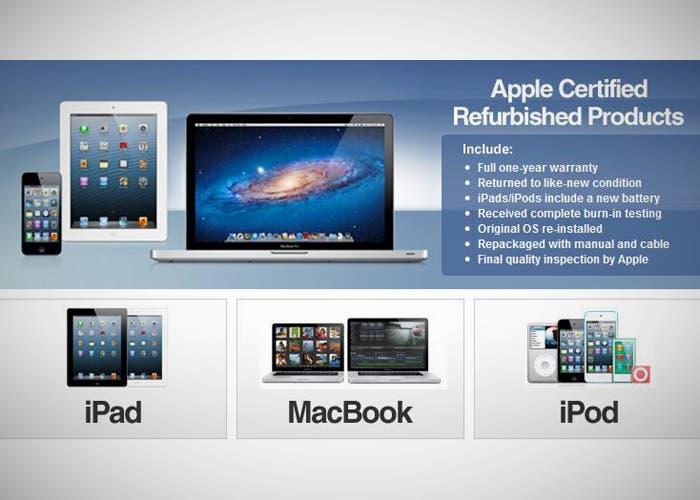 Productos reacondicionados de Apple