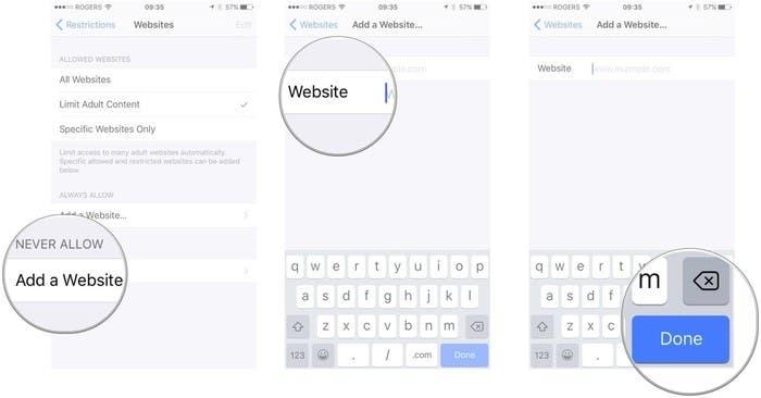Bloqueo paginas web en iPad