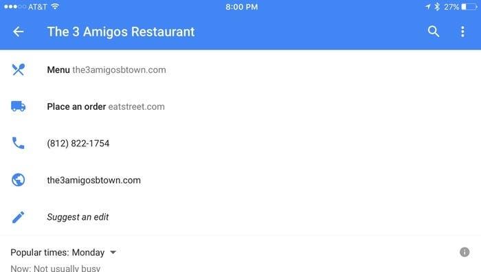 servicio de delivery google maps
