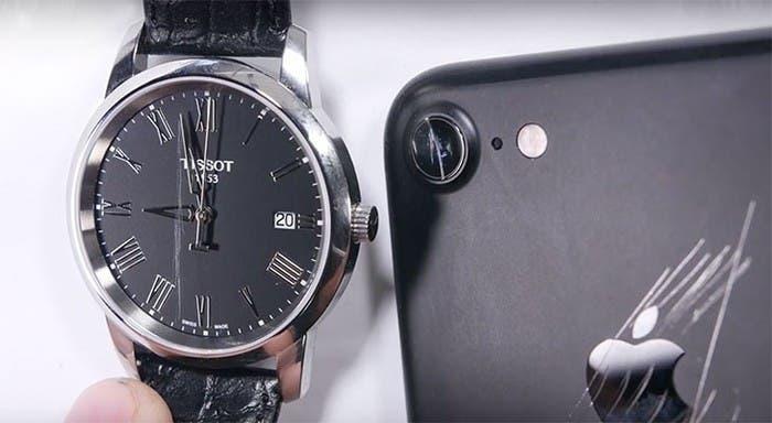 cristal cámara iphone 7 vs reloj tissot con la esfera de zafiro