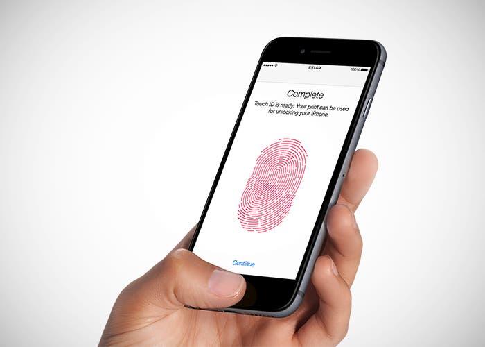 Patente del lector de huella para iPhone 8