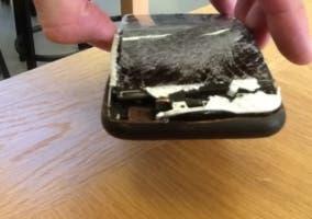 Se incendia un iPhone 6 en pleno vuelo