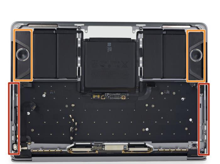 Altavoces en el MacBook Pro 2016