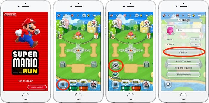 ahorrar bateria Super Mario run ios
