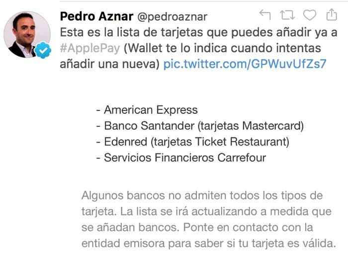 Apple Pay Banco Santander