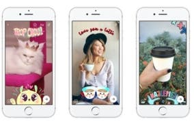 Facebook Messenger mascaras 3D