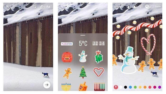 Pegantinas y stickers para instagram