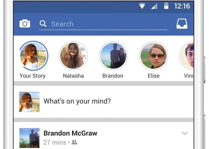 Facebook Stories iOS
