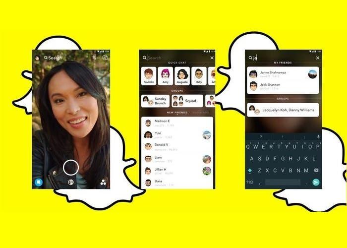 Snapchat facilita la búsqueda de amigos, contenido e historias
