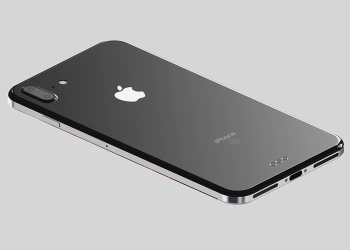 prototipo de iPhone 8 con bordes de acero