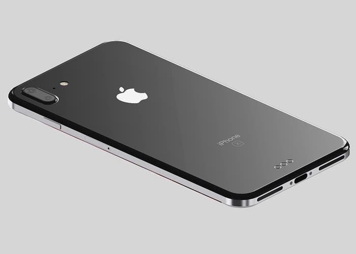 prototipo de iPhone 8 con bordes de acero