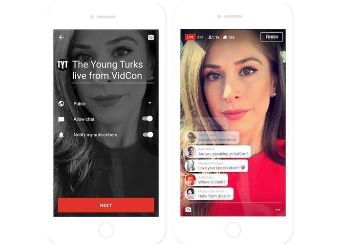 YouTube lanzó opciones de streaming en vivo desde iPhone y iPad