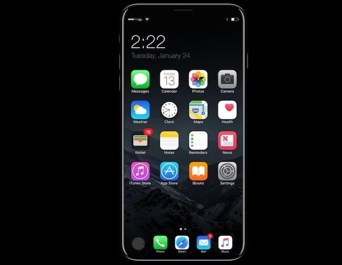 iPhone 8 con chasis de aluminio y chasis de acero inoxidable
