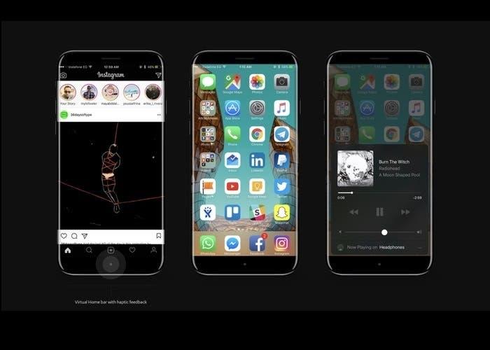 concepto iPhones 8
