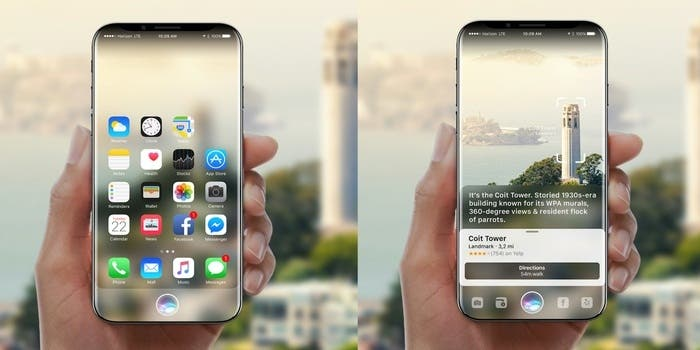 iPhone 8 con Siri y Realidad Aumentada