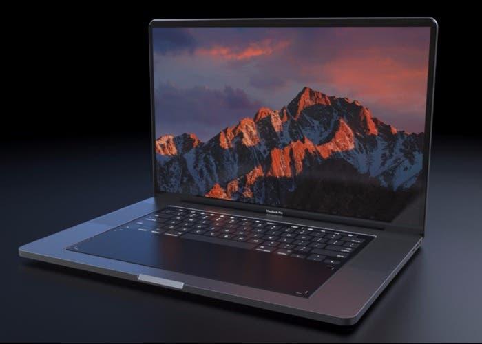 concepto MacBook sin teclado