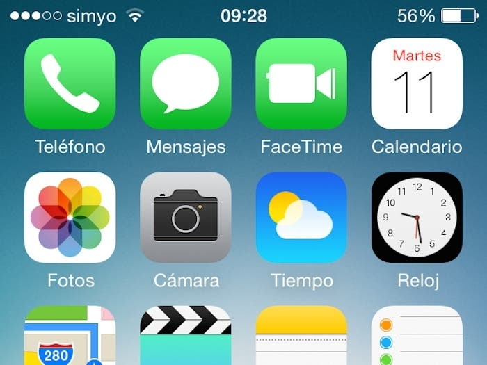 Iconos iphone 7