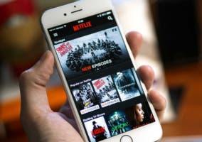 Netflix en un iPhone