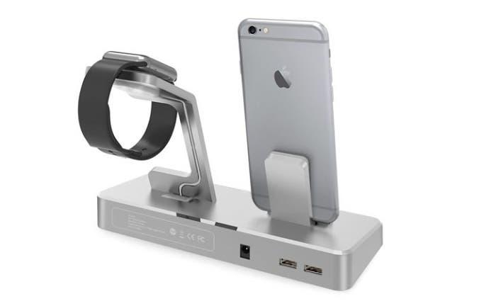base de carga iPhone y Apple Wath