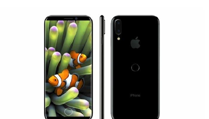 iPhone 8 render área de funciones