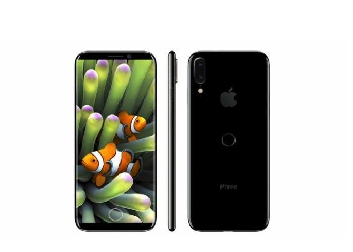 iPhone 8 con borde de acero inoxidable y camara para realidad aumentada